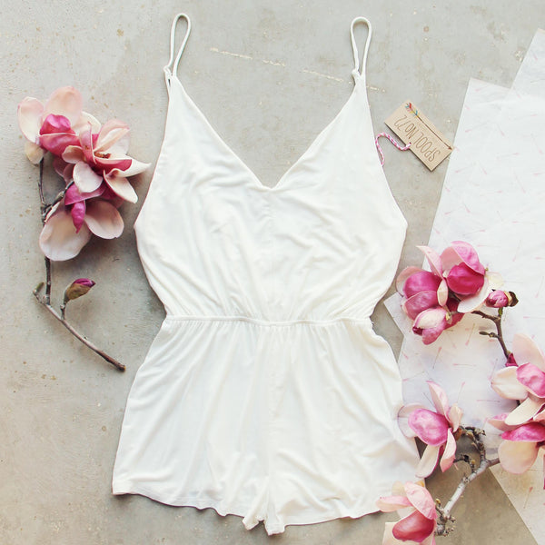White Avalon Romper: Featured Product Image