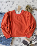 Bailey Tie Back Sweatshirt in Rust: Alternate View #3