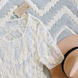 The Lace Basic Tee in Cream: Alternate View #2