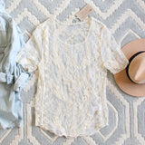 The Lace Basic Tee in Cream: Alternate View #1