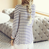 Basic Stripe Cardigan: Alternate View #4