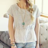 Battenburg Lace Tee: Alternate View #3