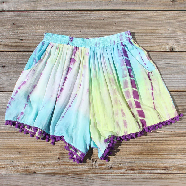 Beach Gypsy Shorts in Mint: Featured Product Image