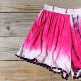 Beach Gypsy Shorts in Pink: Alternate View #2