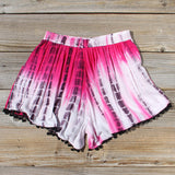 Beach Gypsy Shorts in Pink: Alternate View #3