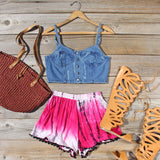 Beach Gypsy Shorts in Pink: Alternate View #4