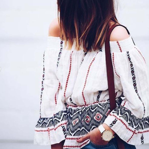 Belle Boho Blouse: Featured Product Image