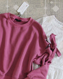 Belle Tie Sweatshirt in Pink: Alternate View #3