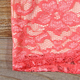 Beloved Lace Dress in Coral: Alternate View #3