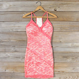 Beloved Lace Dress in Coral: Alternate View #1