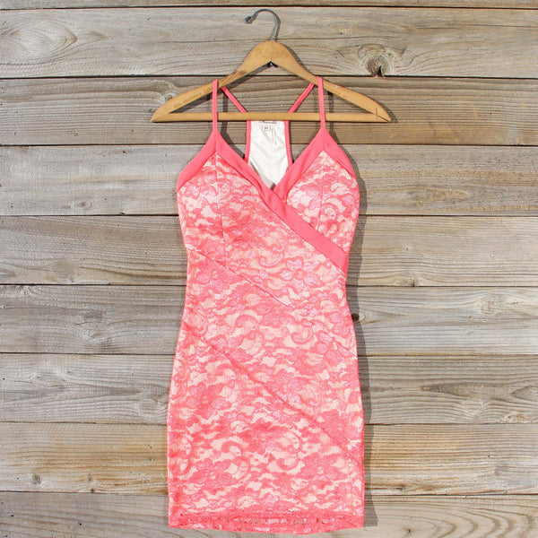 Beloved Lace Dress in Coral: Featured Product Image