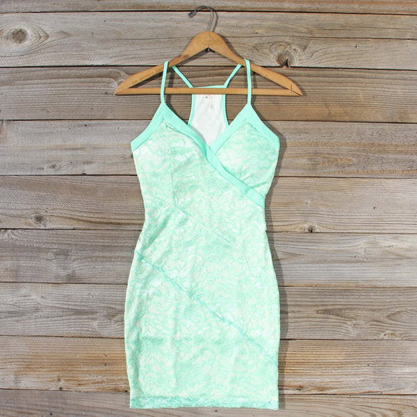 Beloved Lace Dress in Mint: Featured Product Image