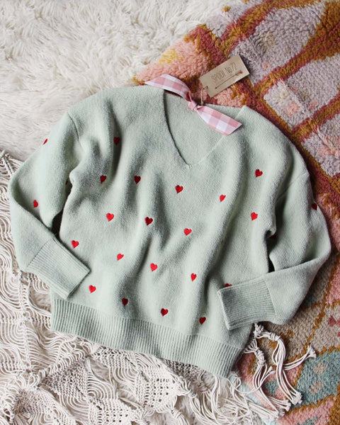 Better Together Sweater in Mint: Featured Product Image