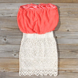 Bewilder Lace Dress in Coral: Alternate View #4
