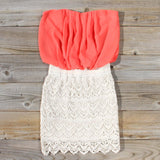 Bewilder Lace Dress in Coral: Alternate View #1