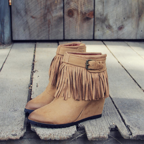 Big Sky Fringe Booties: Featured Product Image