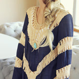 The Blake Tunic in Navy: Alternate View #2