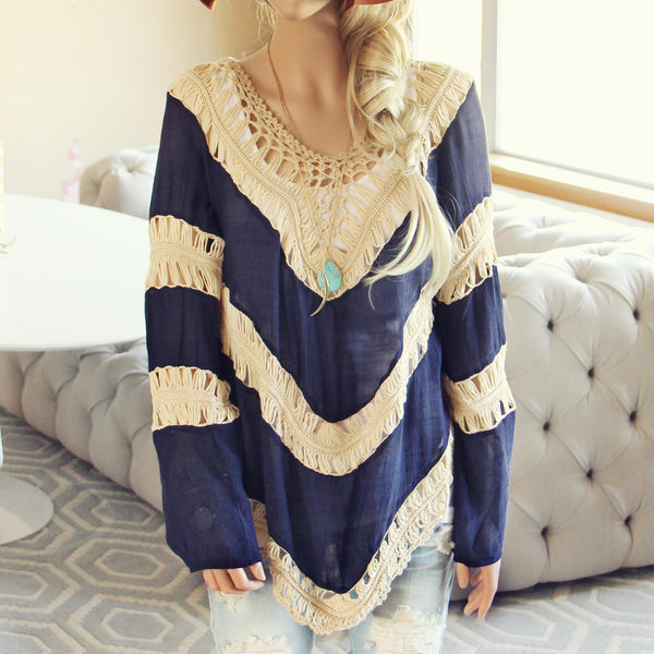 The Blake Tunic in Navy: Featured Product Image