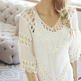 The Blake Tunic in White: Alternate View #2