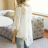 The Blake Tunic in White: Alternate View #3