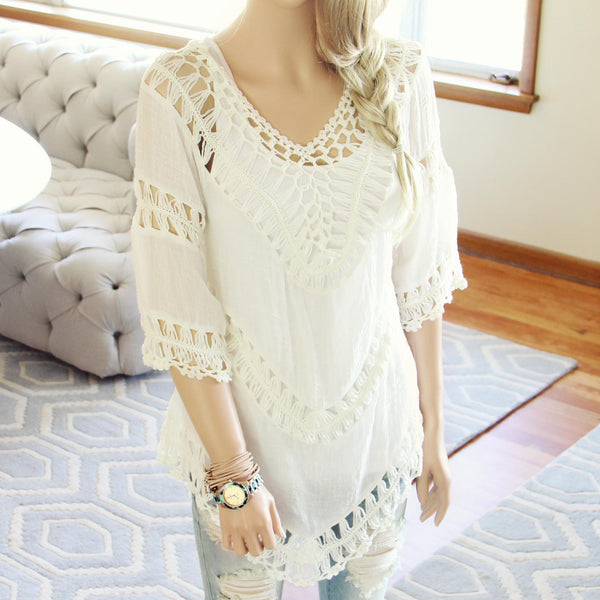 The Blake Tunic in White: Featured Product Image