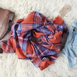 Blizzard Plaid Blanket Scarf: Alternate View #1