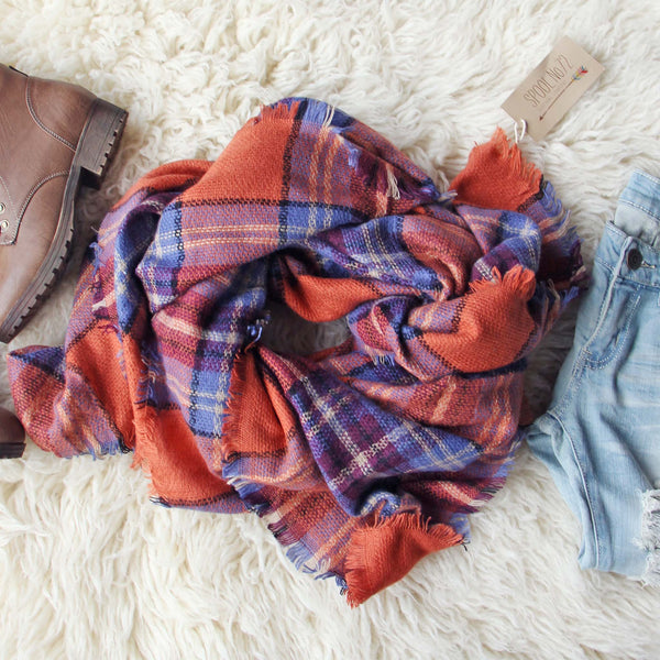 Blizzard Plaid Blanket Scarf: Featured Product Image