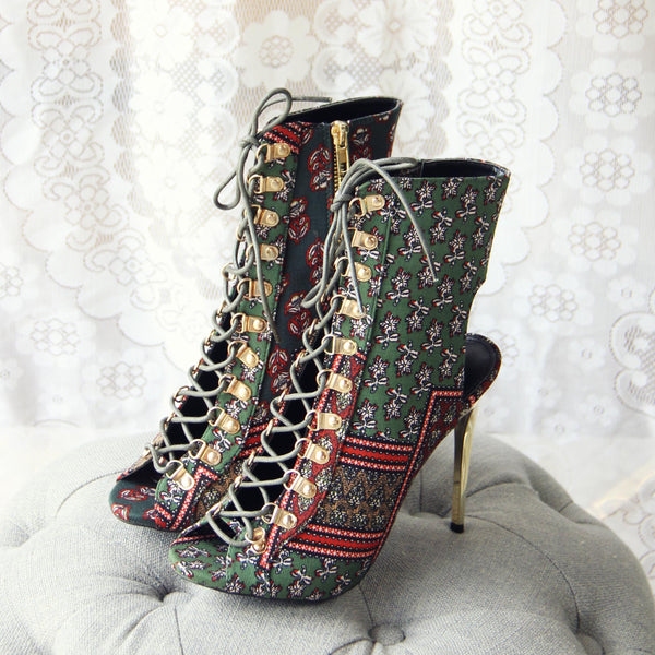 Block Print Heels: Featured Product Image