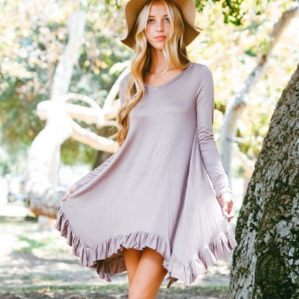 Bluff Hills Ruffle Dress: Featured Product Image
