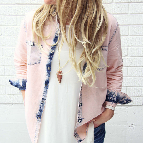 Rosé & Denim Shirt: Featured Product Image