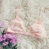 Boheme Lace Bralette in Pink: Alternate View #1
