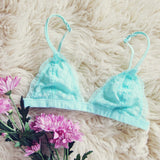 Boheme Lace Bralette in Sky: Alternate View #2