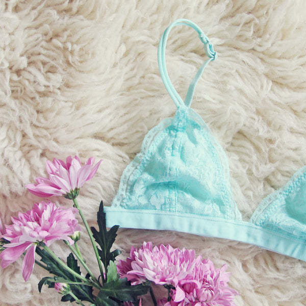 Boheme Lace Bralette in Sky: Featured Product Image