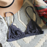 Boheme Lace Bralette in Smoke: Alternate View #1