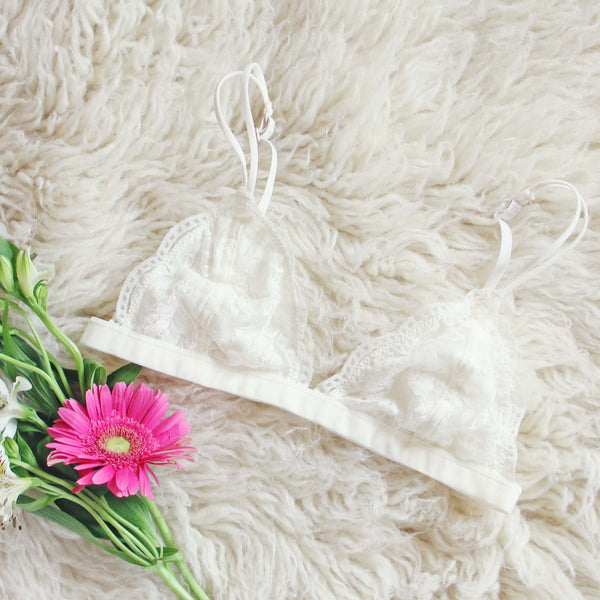 Boheme Lace Bralette in Ivory: Featured Product Image