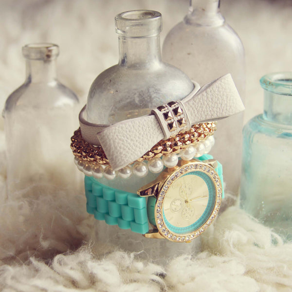 Bohemian Bangles Watch in Mint: Featured Product Image
