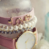 Bohemian Bangles Watch in Pink: Alternate View #2