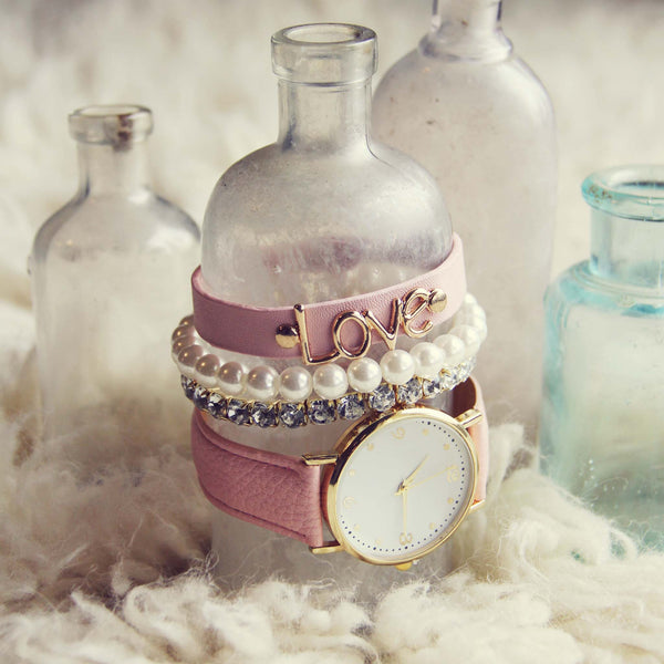 Bohemian Bangles Watch in Pink: Featured Product Image