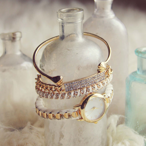 Bohemian Bangles Watch in White: Featured Product Image