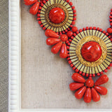 Bohemian Romance Necklace in Coral: Alternate View #2