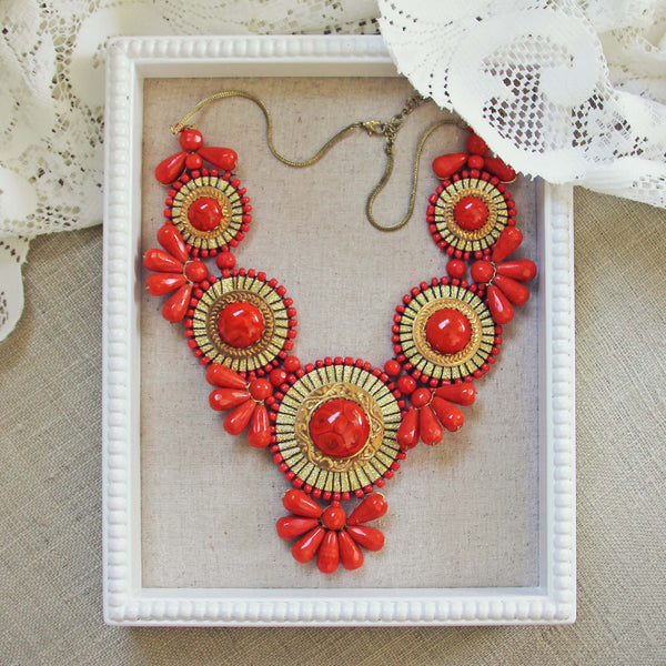 Bohemian Romance Necklace in Coral: Featured Product Image
