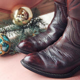 Bordeaux Vintage Boots: Alternate View #2
