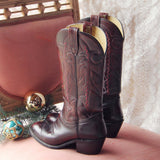 Bordeaux Vintage Boots: Alternate View #3