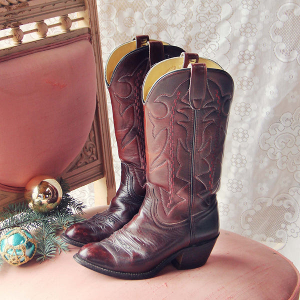 Bordeaux Vintage Boots: Featured Product Image