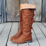 The Bow Back Boots in Cognac: Alternate View #2