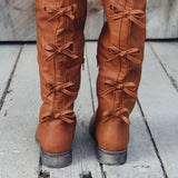 The Bow Back Boots in Cognac: Alternate View #3
