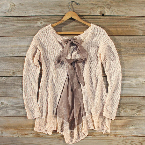 Lace & Tie Sweater: Featured Product Image