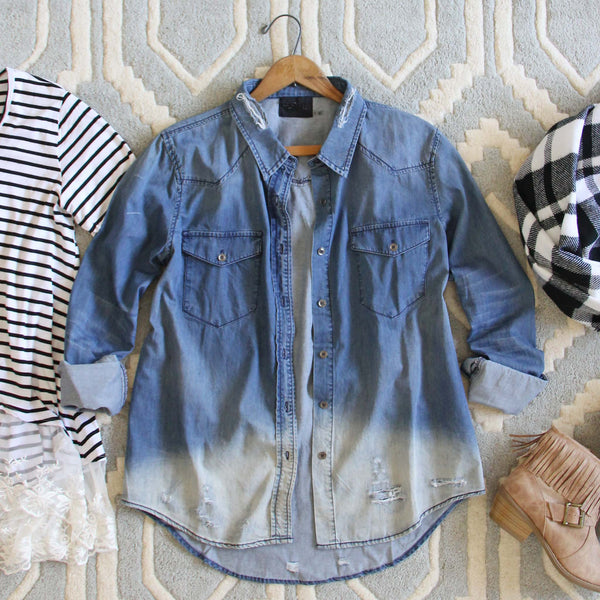 The Boyfriend Denim Shirt: Featured Product Image
