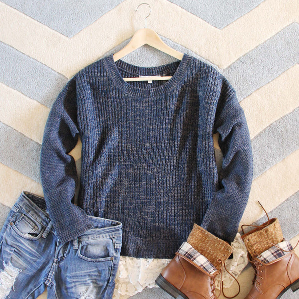 The Boyfriend Lace Sweater: Featured Product Image