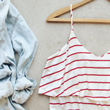 The Boyfriend Stripe Tank: Alternate View #2